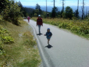 Photo: Walking the path to Clingman's Dome.