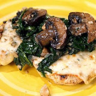 Spinach & Mushroom Smothered Chicken.