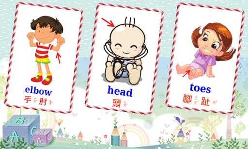 身體部位學習卡 V2 (兒童拼圖)