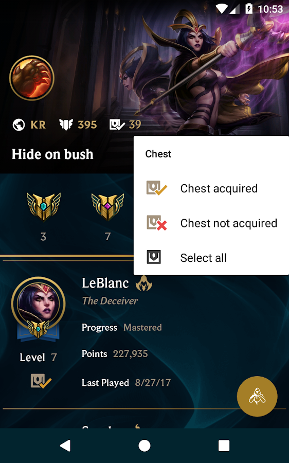 LoL Mastery and Chest- screenshot