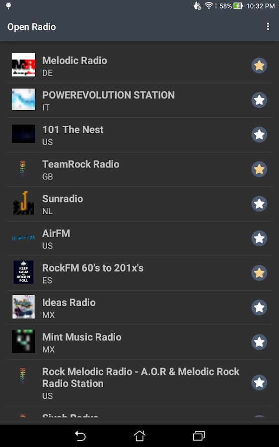 Open Radio- screenshot