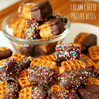 Peanut Butter Cream Cheese Pretzel Bites