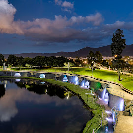 The Breath of a City by Andrius La Rotta Esquivel - City,  Street & Park  City Parks ( parks, city parks, city view, bogota, city lights, photography, colombia, night photography )