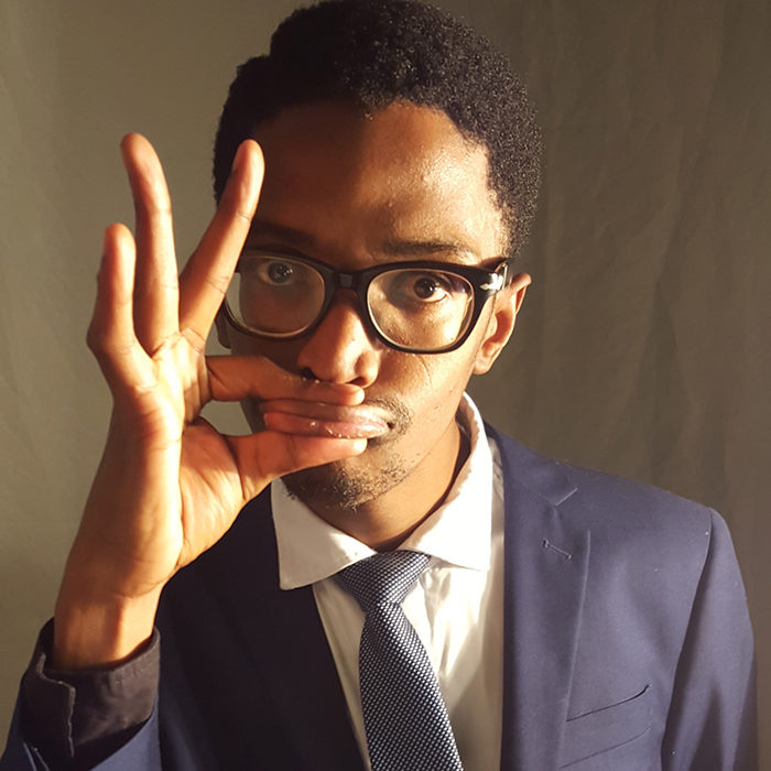 SAY WHAT? Comedian Bongani Dube, who fell a trifle flat on the night.