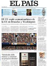 """Photo: EE UU espió comunicaciones de la UE en Bruselas y Washington, entrevista a José Antonio Griñán y 80.000 personas asisten a un macroconcierto """"por la libertad"""" en el Campo Nou, en nuestra portada del domingo 30 de junio http://srv00.epimg.net/pdf/elpais/1aPagina/2013/06/ep-20130630.pdf"""