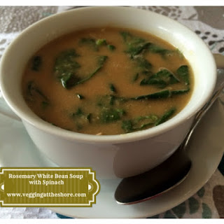 Rosemary White Bean Soup with Spinach