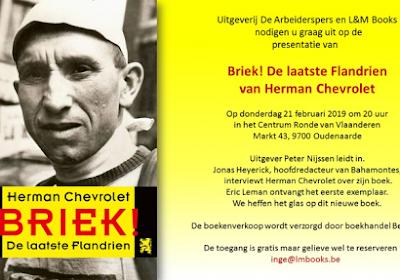 Boekvoorstelling Briek! op 21 februari in Oudenaarde
