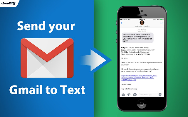 send your email to sms text chrome web store