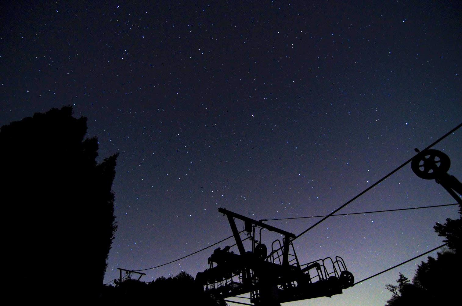 Starry Night and Ski Lift