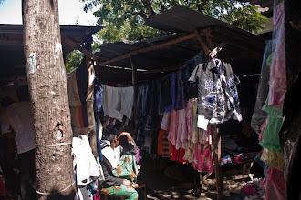 Photo: Red cross clothes for sale on the market! / Oblečení z Červeného kříže na prodej na téměř každém africké stylu!
