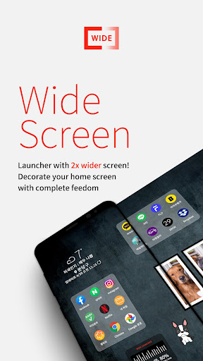 Wide Launcher - 2x wider, tile free decorating 1.3.0 screenshots 1