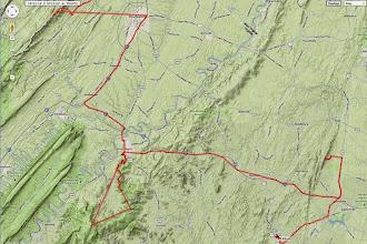 Photo: K8GP / Rover APRS route track - FM09TF, FM08US, FM18DV, FM18CR
