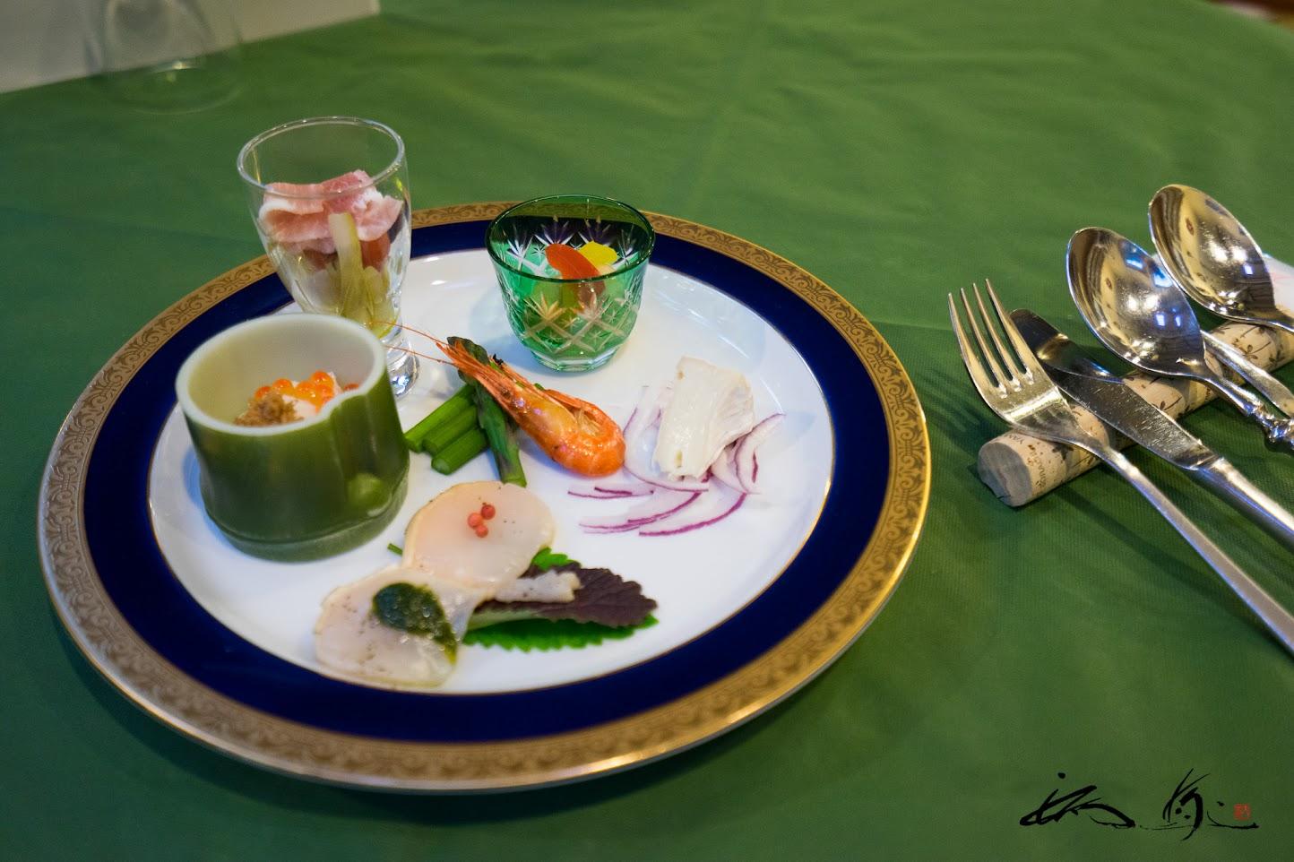 冷たい前菜「お皿の上は北海道」