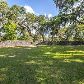 Dorchester Fort Ruins by Liam Douglas - Landscapes Travel ( no person )