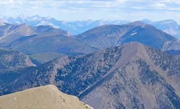 Photo: Rocky Mountain on horizon left and Ear Mountain on horizon right.