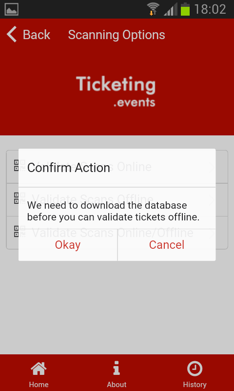 Event Ticket Scanner- screenshot