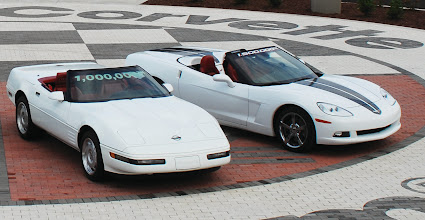 Photo: 1992 White 1 Millionth Corvette (left) 2009 White 1.5 Millionth Corvette (right)  before. permission is granted for the use of this photo.