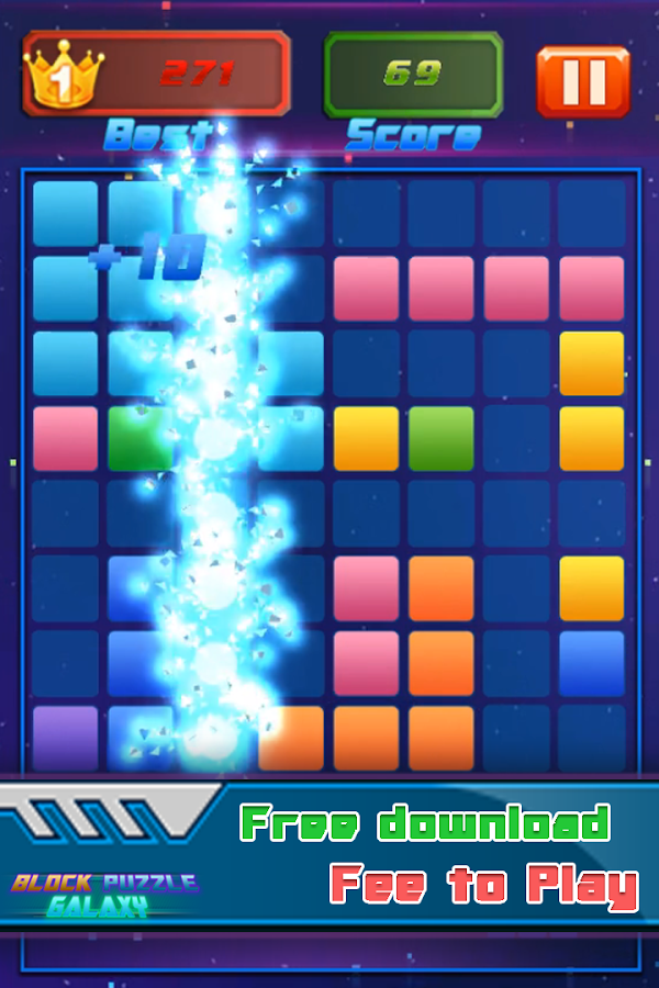 Block Puzzle Galaxy 2018: Drag, Swipe & Drop Cube- screenshot