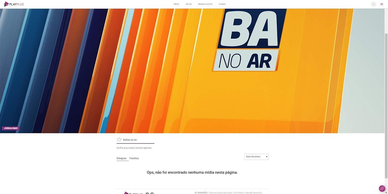 Um das maiores audiências da Record no país, o'BA no Ar' é um dos programas locais da emissora com o logo antigo, sem íntegras e trechos antigos