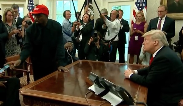 Musician Kanye West met with US President Donald Trump at the White House on 10 October.