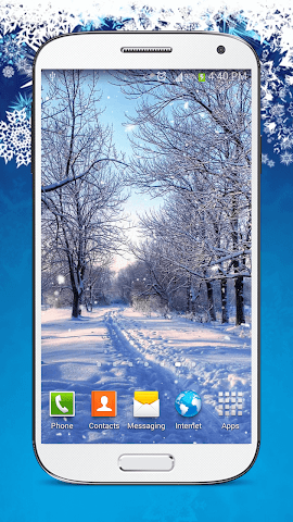 android Snow Live Wallpaper HD Screenshot 6
