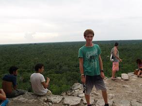 Photo: Coba - Blick von der Pyramide über den Urwald in Yucatan