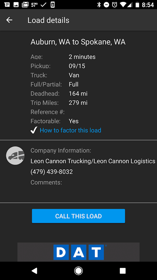 DAT Trucker - GPS + Truckloads- screenshot