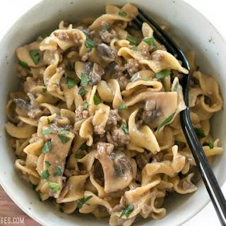 One Pot Beef and Mushroom Stroganoff Recipe