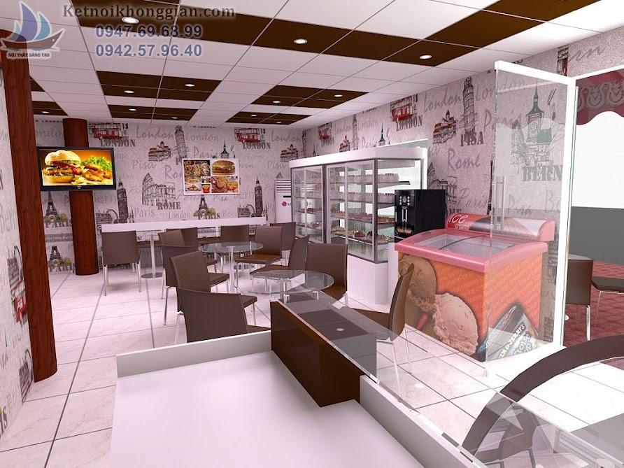 thiết kế cửa hàng bánh kem hoàn hảo