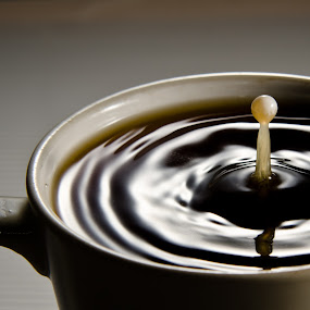 Just a drop! by Chris Couper - Abstract Water Drops & Splashes ( macro, freeze, coffee, cream )