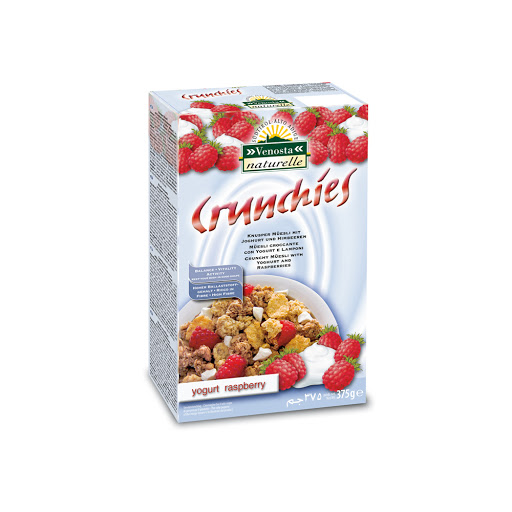 cereal crunchies yogurt y raspberries 375gr