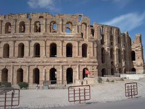 Photo: The flavian ampitheatre (or Colosseum) of El-Jem is in remarkable condition and probably the biggest of the Roman empire.