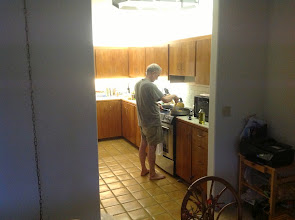 Photo: Randy cooking dinner