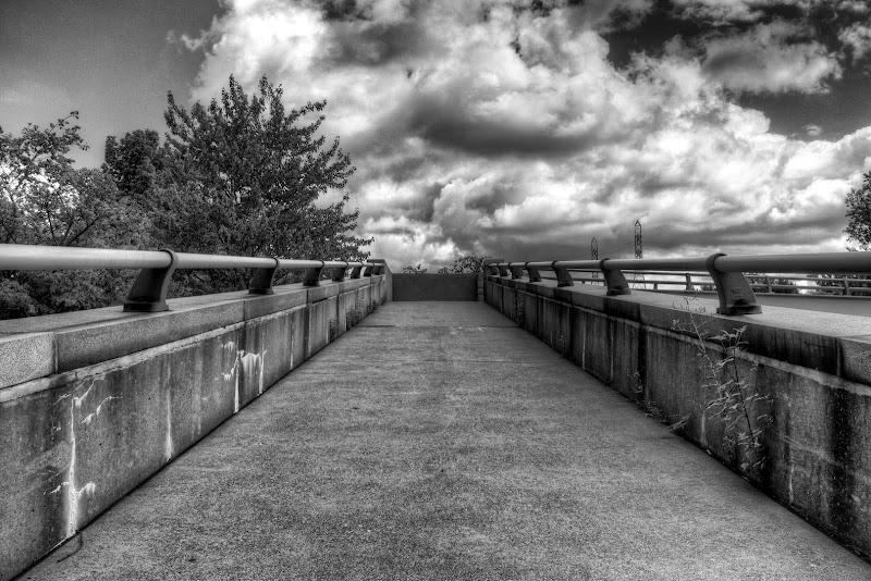 "Photo: Some people like it noisy! ""Walkway to the clouds"" #monochrome  #blackandwhitephotography"