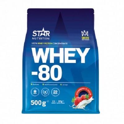 Star Nutrition Whey-80 500g - Strawberry