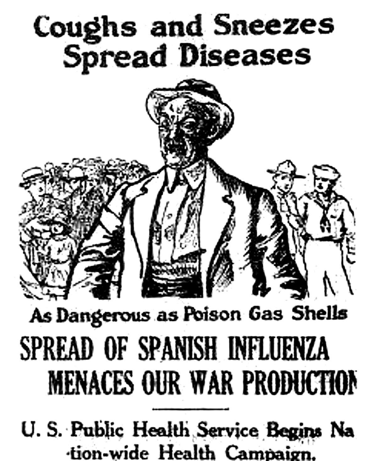 Advertencia sobre la gripe española