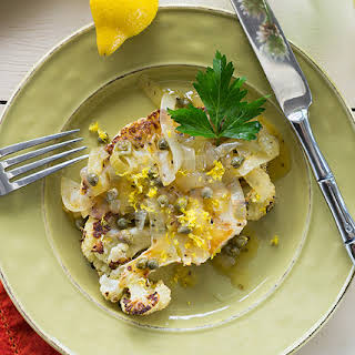 Roasted Cauliflower Cutlets with Lemon-Caper Sauce.