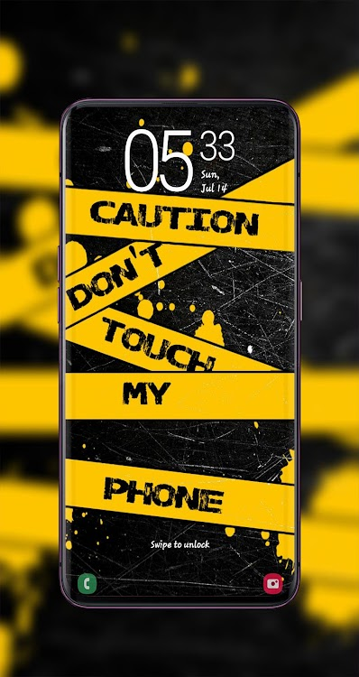 Don't Touch My Phone Wallpaper HD+ 2020