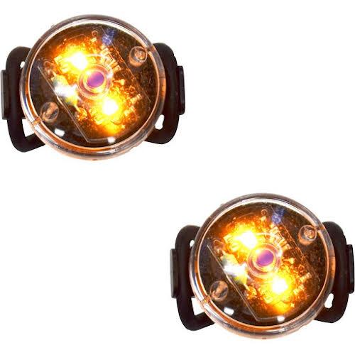 Planet Bike Button Blinky Side Light Set, Amber