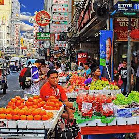 Chinatown Food Market Bangkok by James Morris - Food & Drink Fruits & Vegetables ( market, thailand, chinatown, bangkok, food )