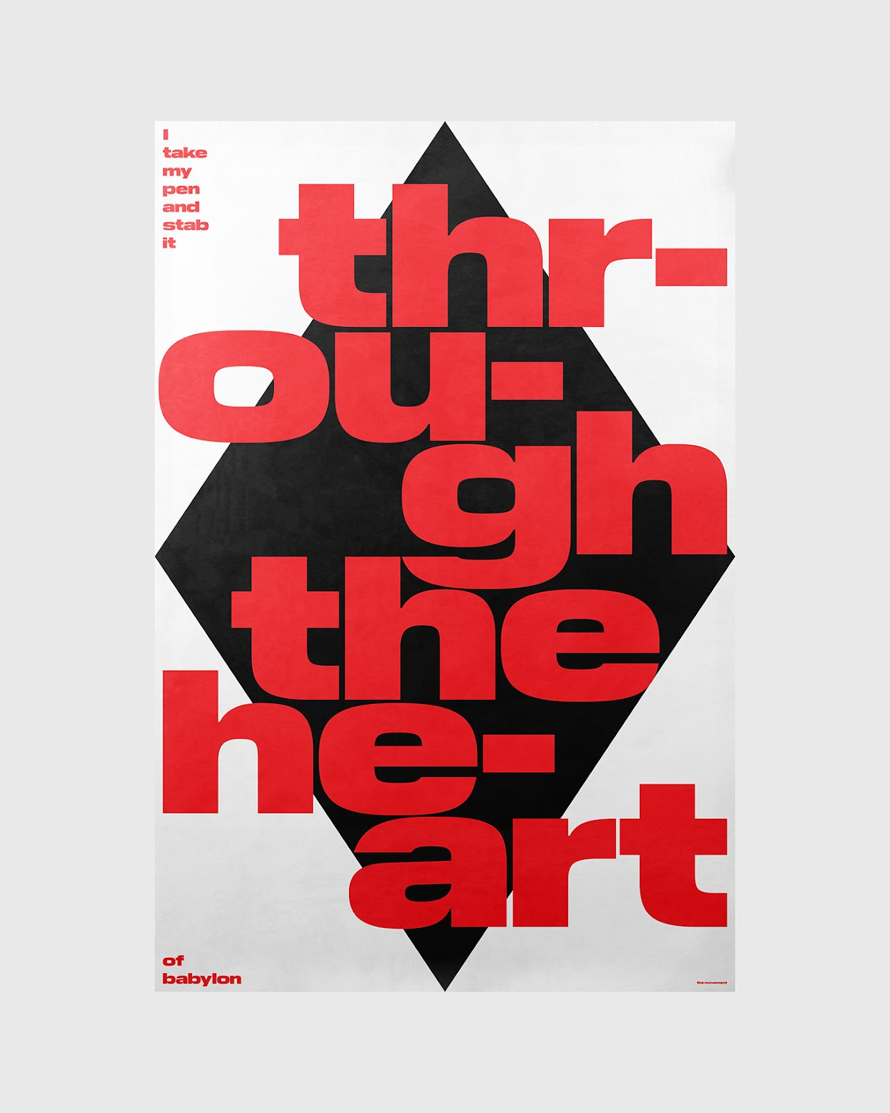 Through The Heart poster by Xtian Miller