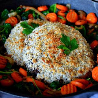 Breaded Portobello Mushroom Steaks [Vegan].