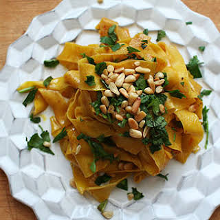 Saffron Pasta with Spiced Butter.