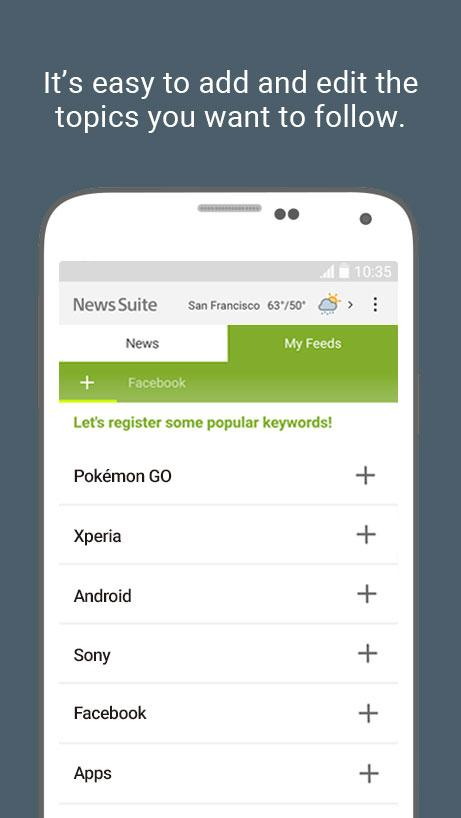 News Suite by Sony- screenshot