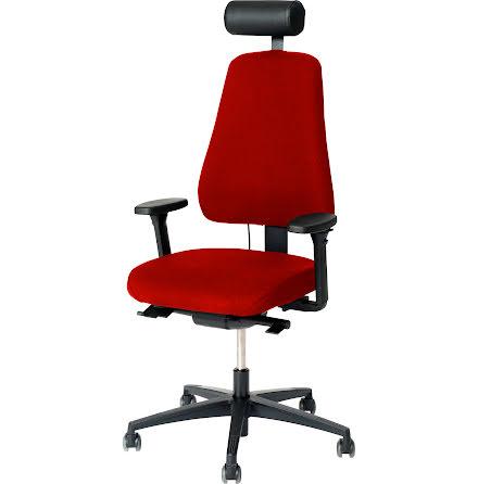 Stol Lanab 6340 inkl.hjul röd