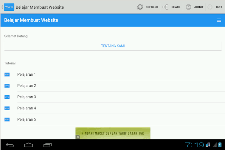 android Belajar Membuat Website Screenshot 0