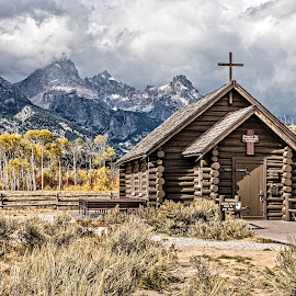 Episcopal Chapel of the Transfiguration by Richard Michael Lingo - Buildings & Architecture Places of Worship ( buildings, grand teton national park, chapel, wyoming, architecture )
