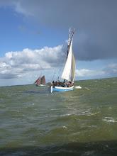 Photo: Met meerdere kotters werd er een wedstrijd gevaren op het IJsselmeer