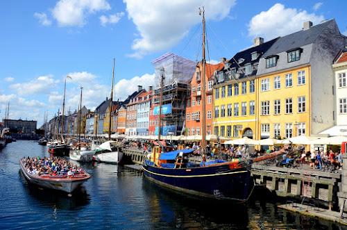 Nyhavn Canal, Copenhagen, Denmark by Francis Xavier Camilleri - City,  Street & Park  Historic Districts ( copenhagen, houses, colors, nyhavn, boats, denmark, canal,  )