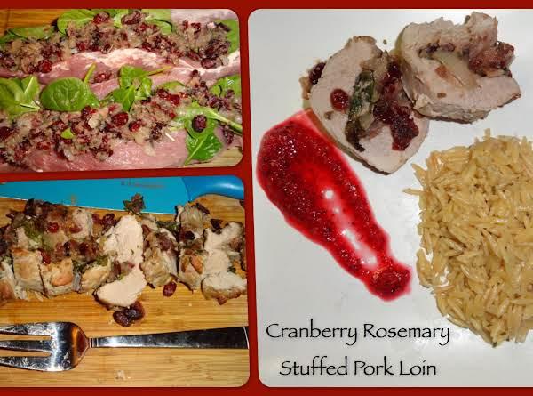Cranberry Rosemary Stuffed Pork Loin